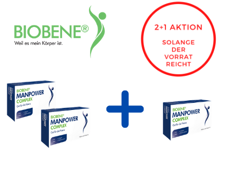 BIOBENE® Manpower Complex 2+1 Aktion