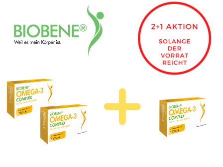 BIOBENE® Omega-3 Complex 2+1 Aktion