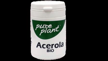Acerola Caps Organico 420mg Pure Plant