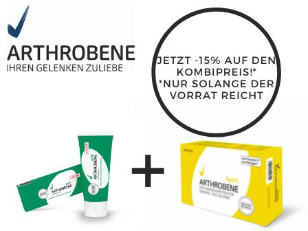 AKTION: ARTHROBENE® Sport + ARTHROBENE® Grün JETZT 15% sparen
