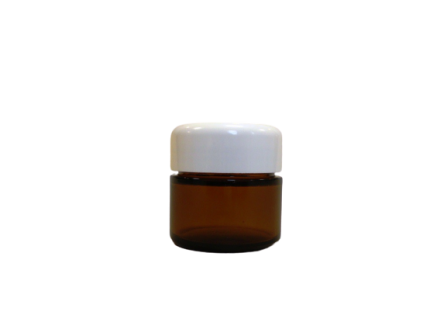 Glass crucible brown incl. Lid white 50ml