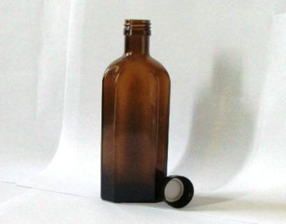 Glasflasche Meplat braun 250ml