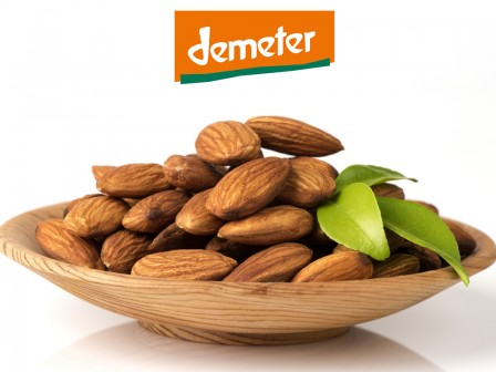Organic DEMETER almond oil roasted